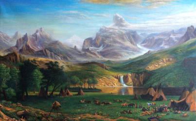 Rocky Mountain , Lander's Peak - Albert bierstadt