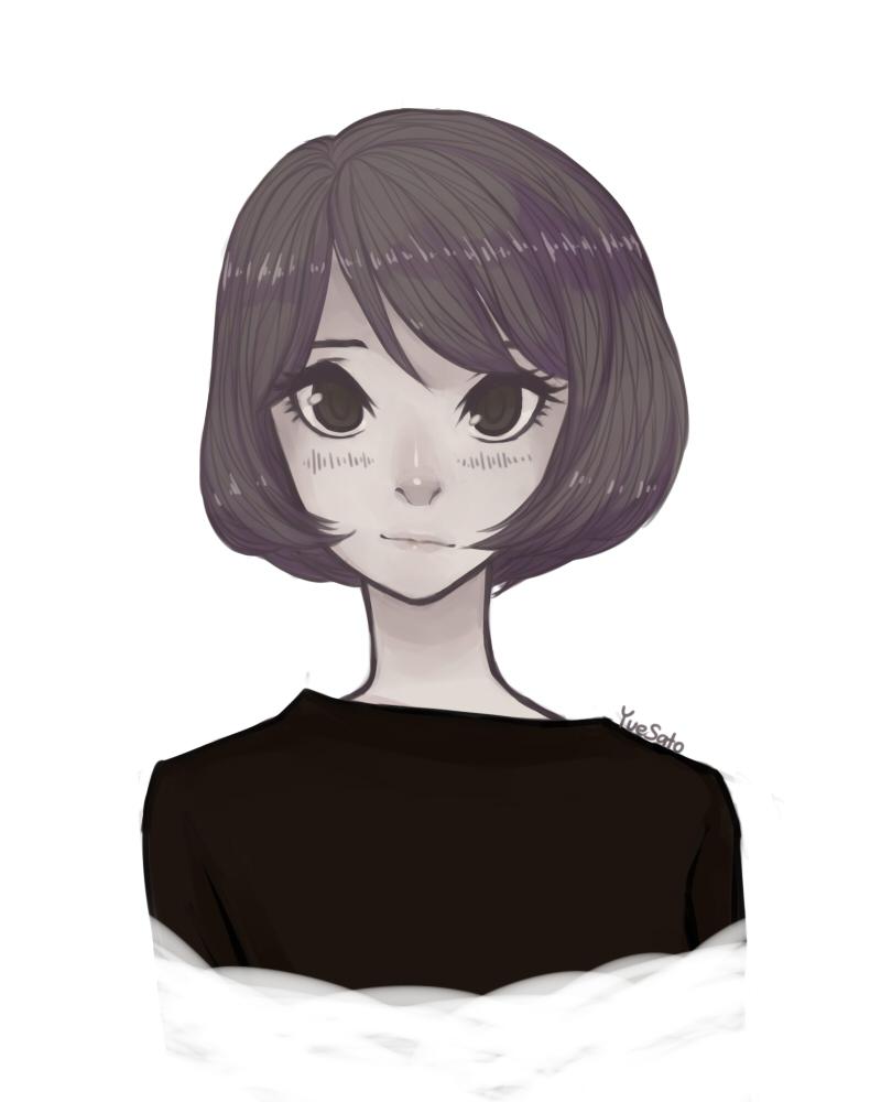 Bob Cut Girl By YueSato On DeviantArt - Anime bob hairstyle