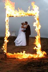 Burning Wedding Frame by aperture1