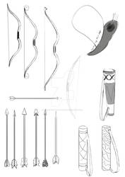 Props Bow and Arrows Thumbnails
