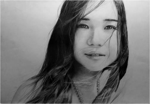 9th portrait - WIP4