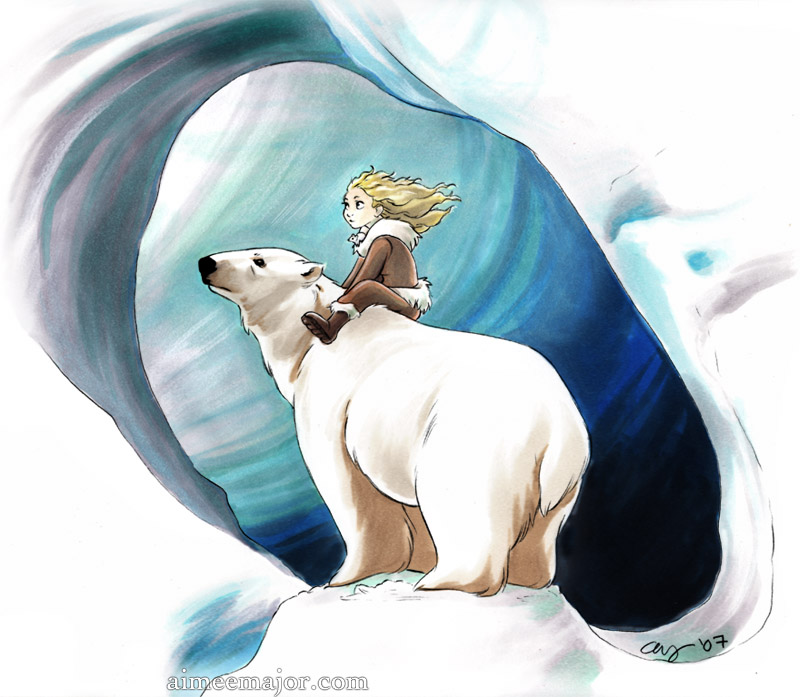 Lyra and Iorek by aimeekitty