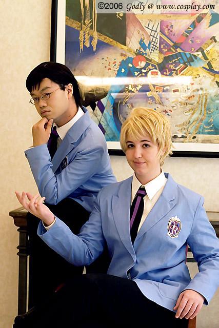 Tamaki and Kyoya by aimeekitty