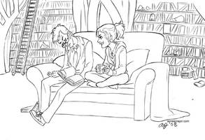 Silent Library - Doctor Who by aimeekitty