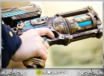 M. Cardea - Nerf Steampunk Gun by aimeekitty