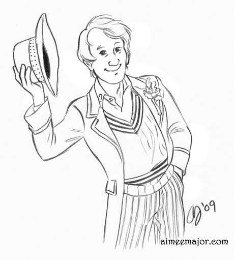 Fifth Doctor by aimeekitty
