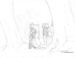 The Fox Wedding by aimeekitty