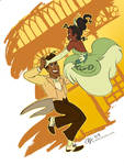 The Princess and the Frog by aimeekitty