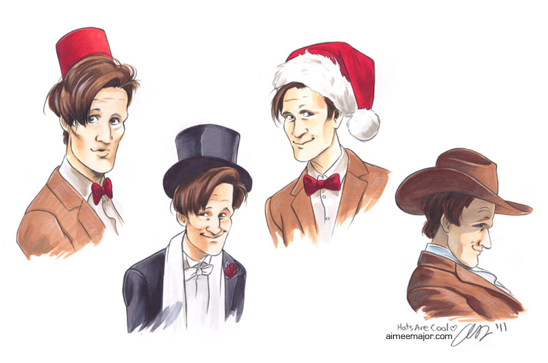Hats Are Cool. 11th Doctor Who by Aimeekitty f41ef3dbfe5