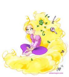 Rapunzel's Tangled Hair by aimeekitty