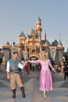 Rapunzel and Flynn at Disneyla by aimeekitty