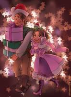 Tangled Christmas Shopping by aimeekitty