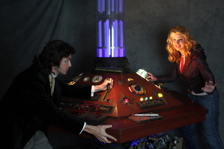 Rose Tyler and the 8th Doctor TARDIS by aimeekitty