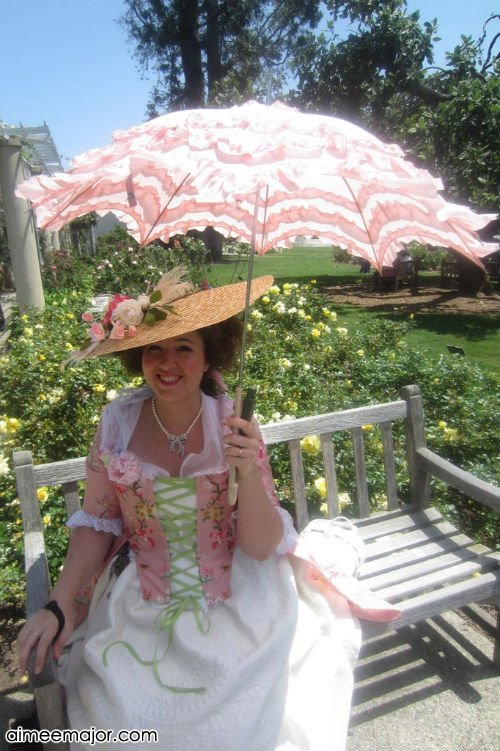 Pink Anglaise a la Polonaise with Parasol by aimeekitty