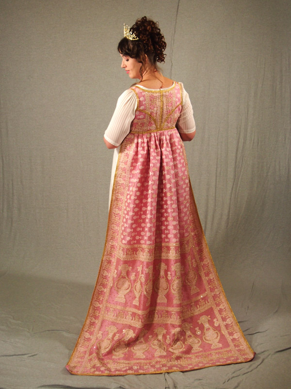 Regency Pink Saree Open Robe by aimeekitty