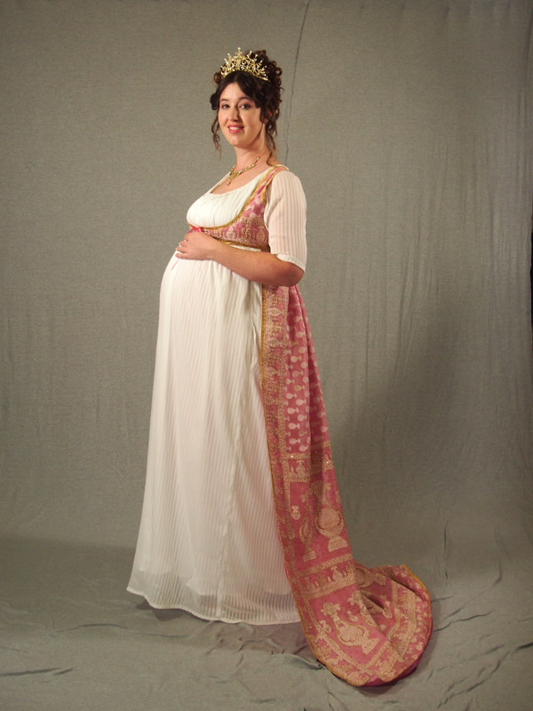 Regency Pink Saree Open Robe Front by aimeekitty