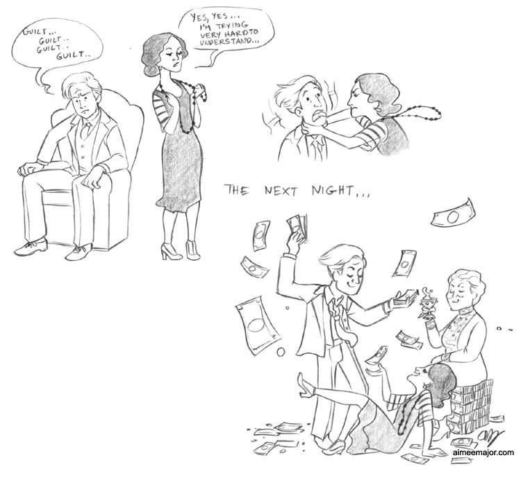Downton Abbey S3 ep2 Make It Rain Comic (SPOILERS) by aimeekitty