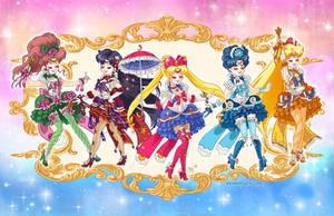 Rococo Inner Senshi Sailor Moon by aimeekitty
