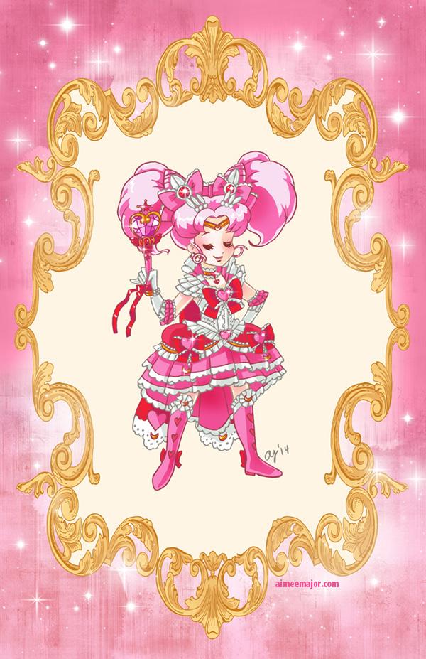 Rococo Chibi Moon from Sailor Moon by aimeekitty