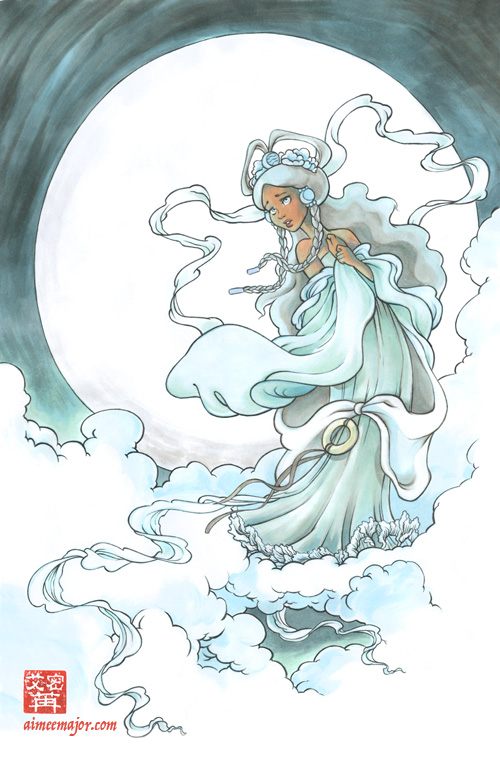 Yue Moon Goddess from Avatar by aimeekitty