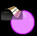 Windows XP Gold Wallpaper blows a bubblegum
