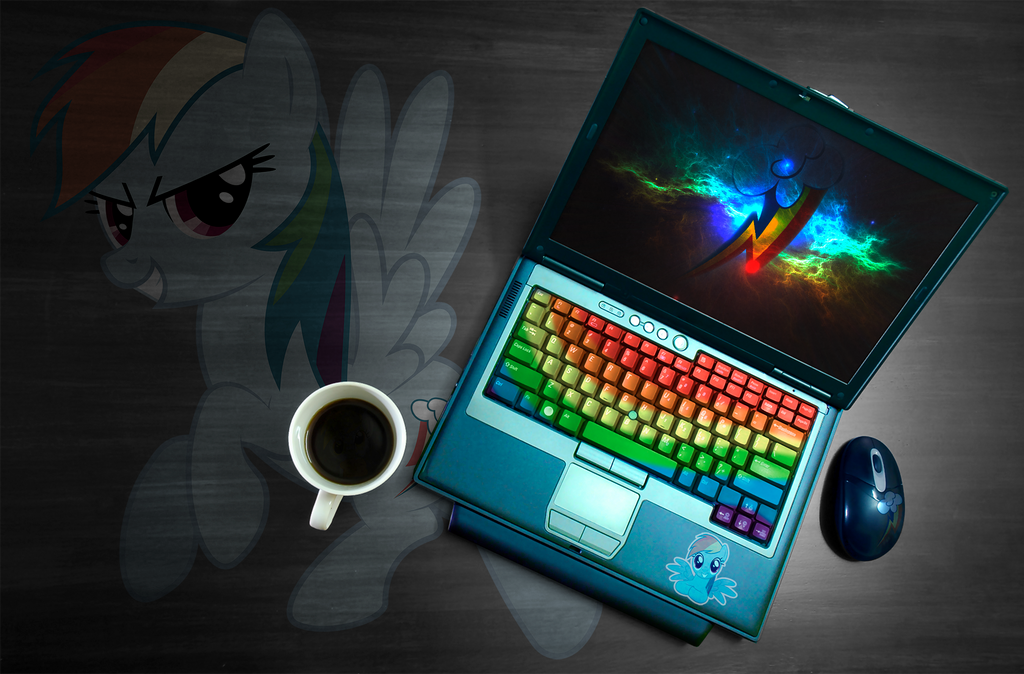 Rainbow Dash laptop wallpaper by ryuuichi-shasame on ...