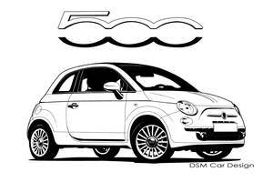 Fiat 500 B'n'W by DSMCarDesign