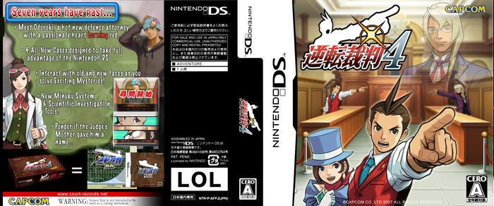 GS4 Apollo Justice DS Box Art