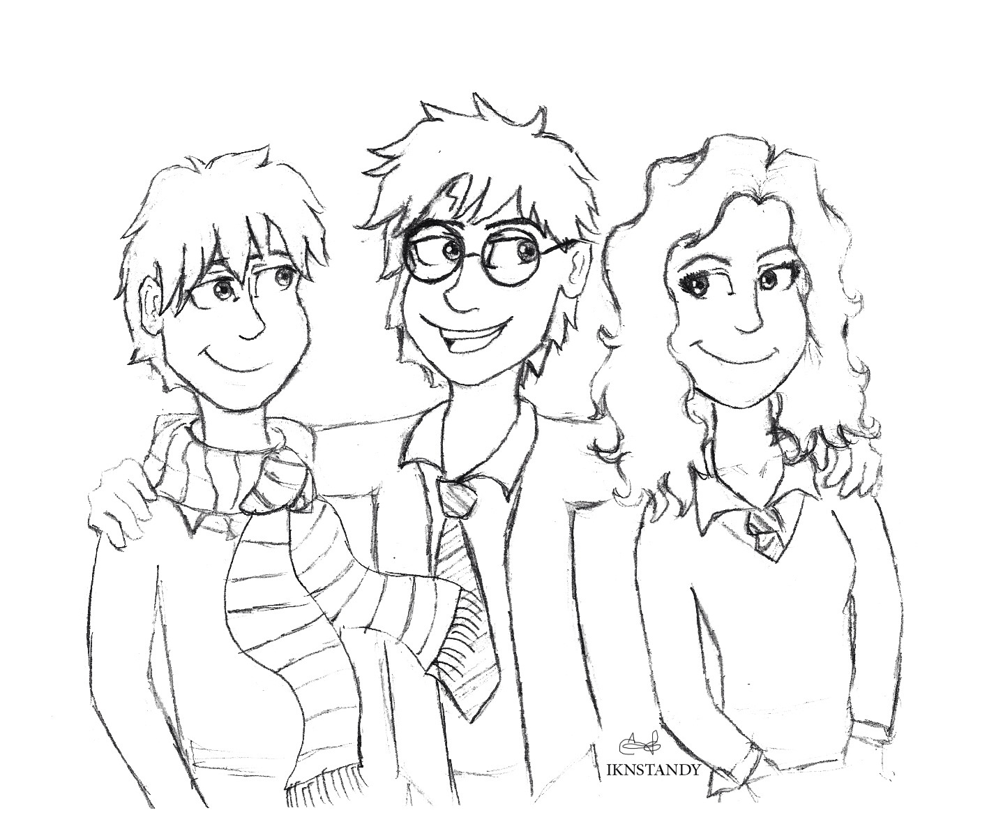 Harry Potter Squad Fan art by Inkstandy