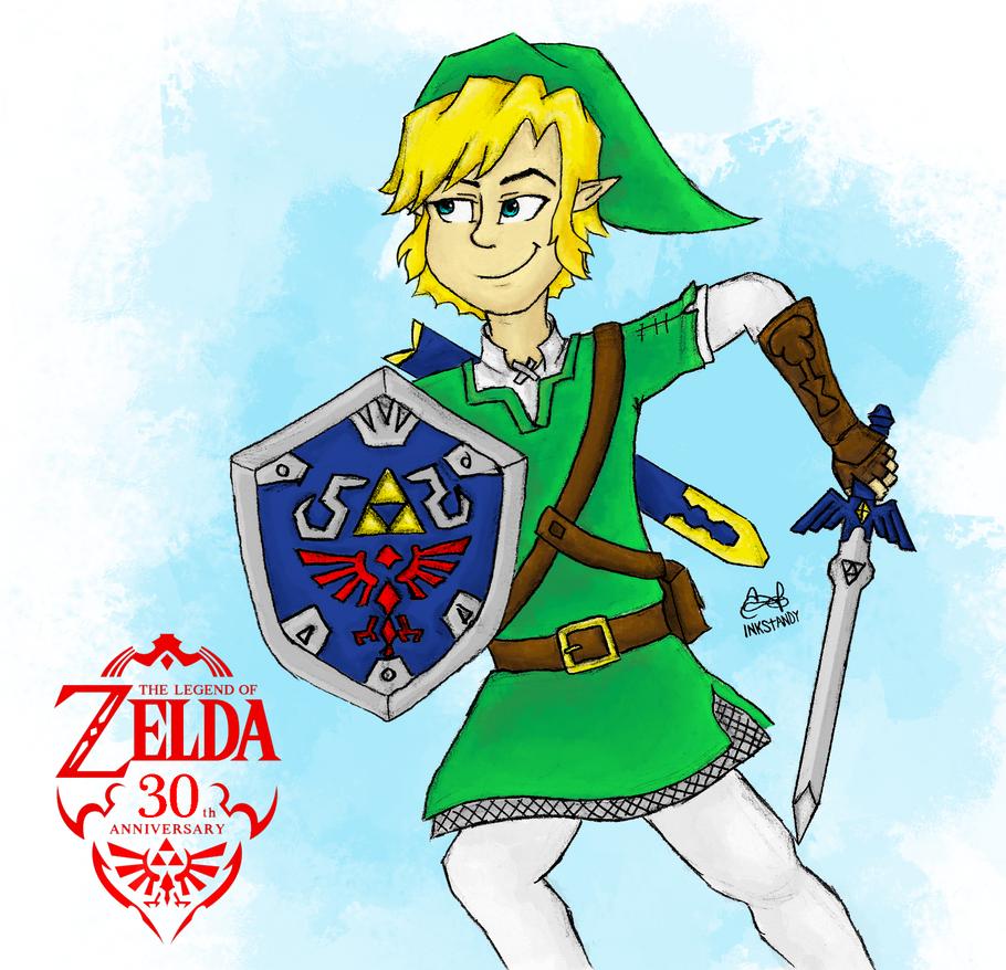 The Legend of Zelda 30th Anniversary Fan Art by Inkstandy