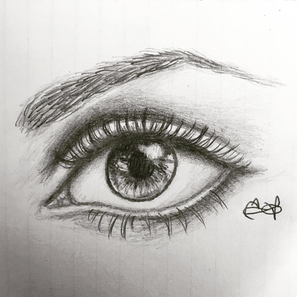 Eye drawing by Inkstandy