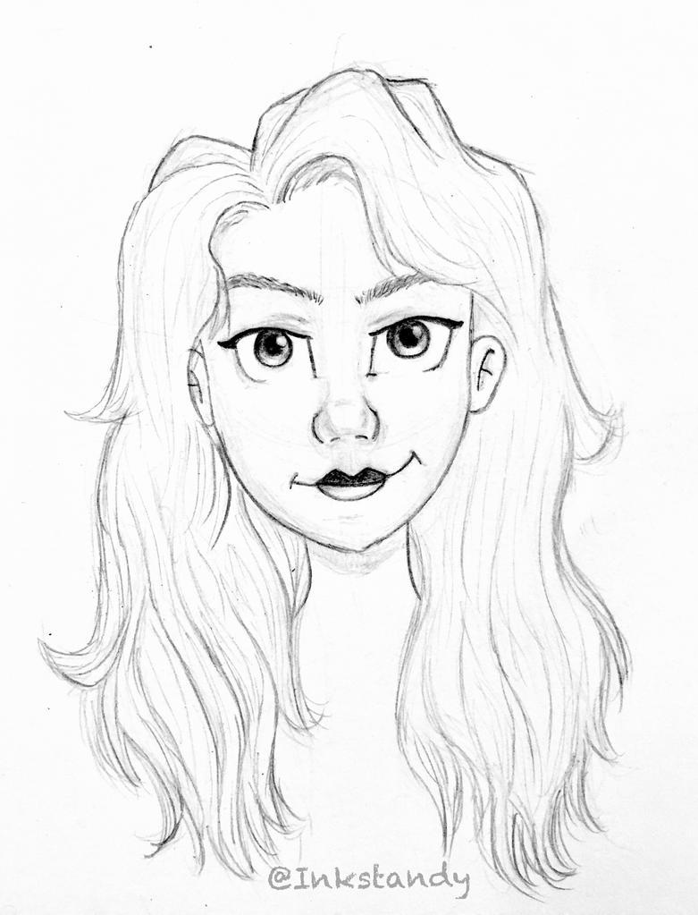 Girl Cartoon Style by Inkstandy