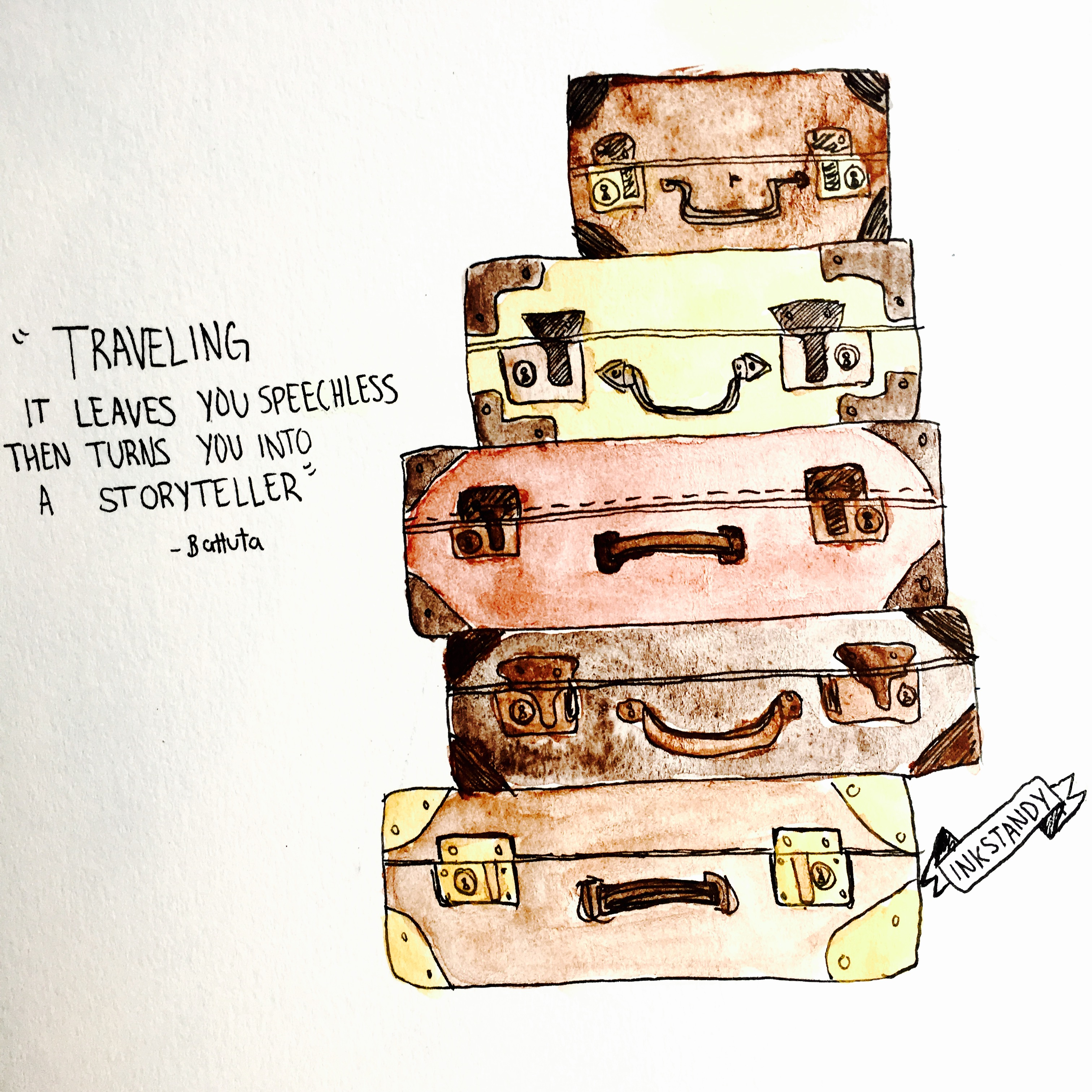 Traveling by Inkstandy