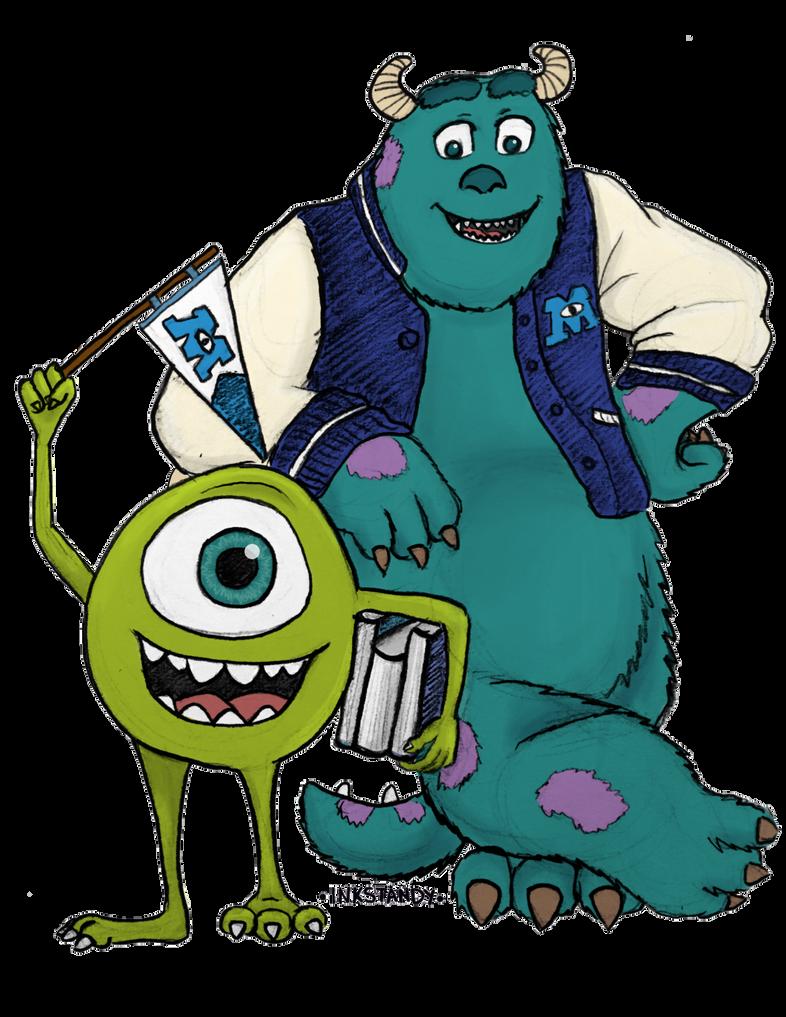 Monsters University Fan Art by Inkstandy