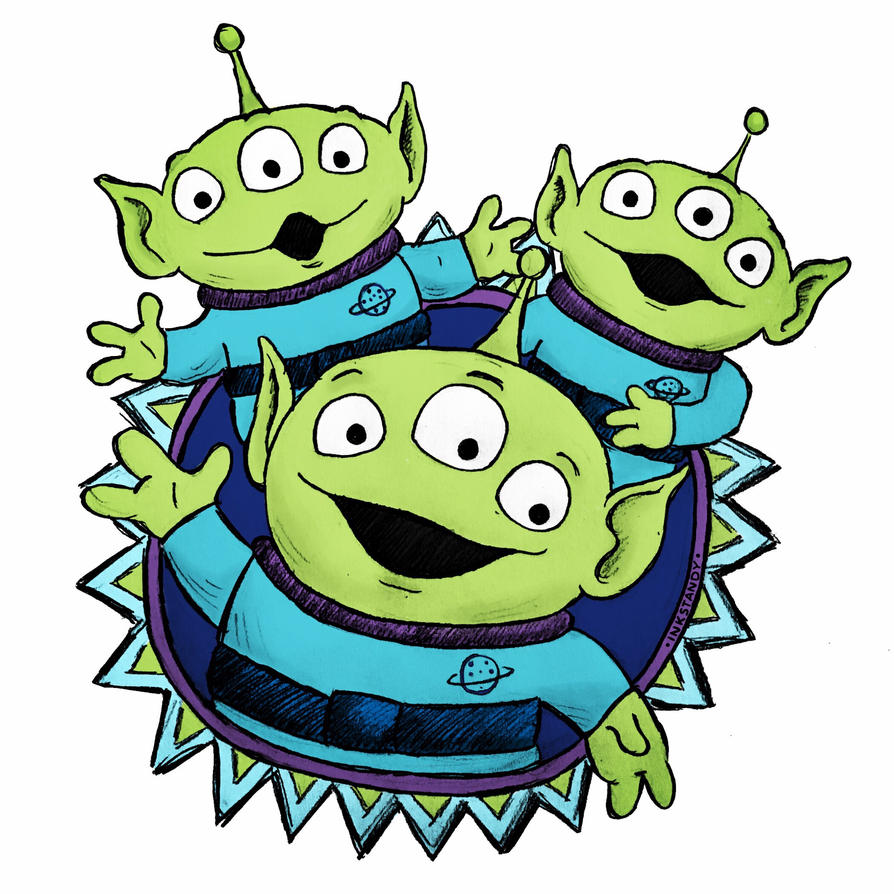 Three Little Men by Inkstandy