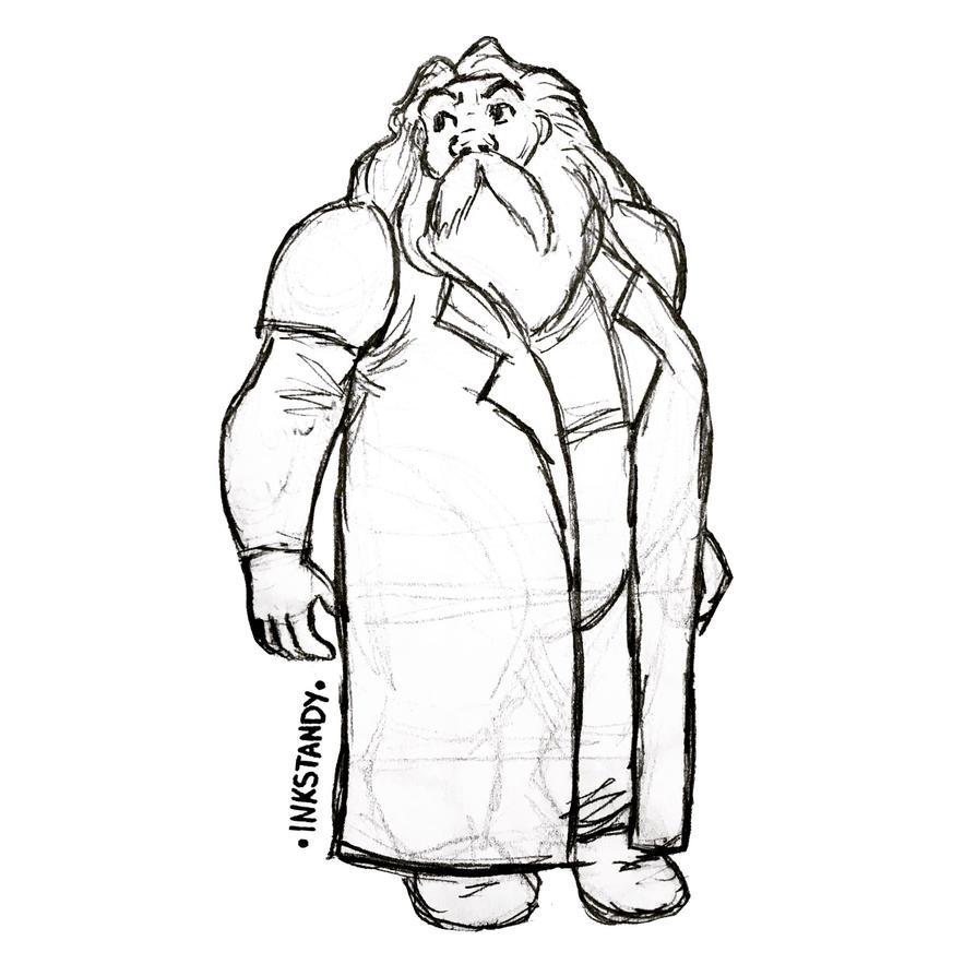 Hagrid fan art  by Inkstandy