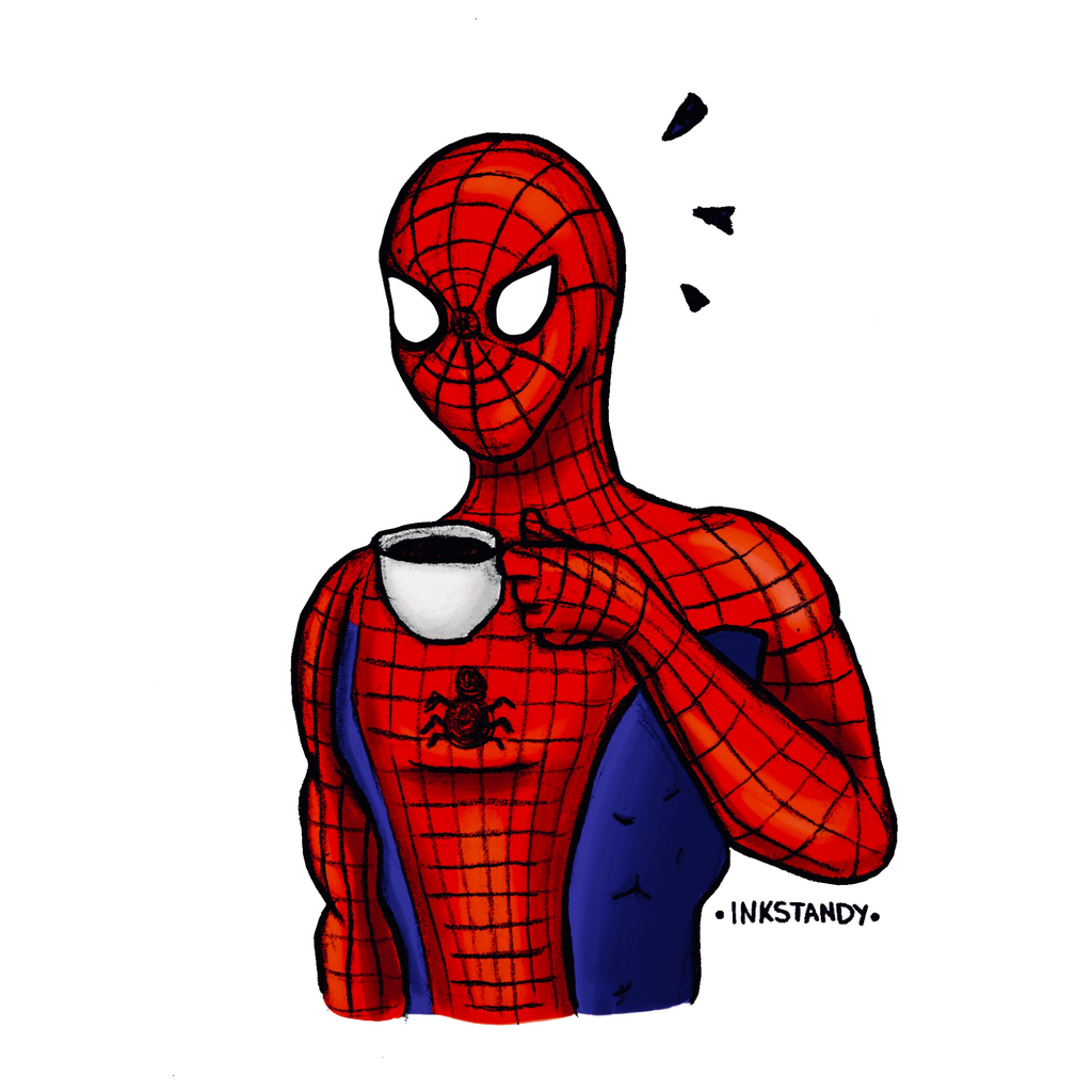 Spiderman Coffee by Inkstandy
