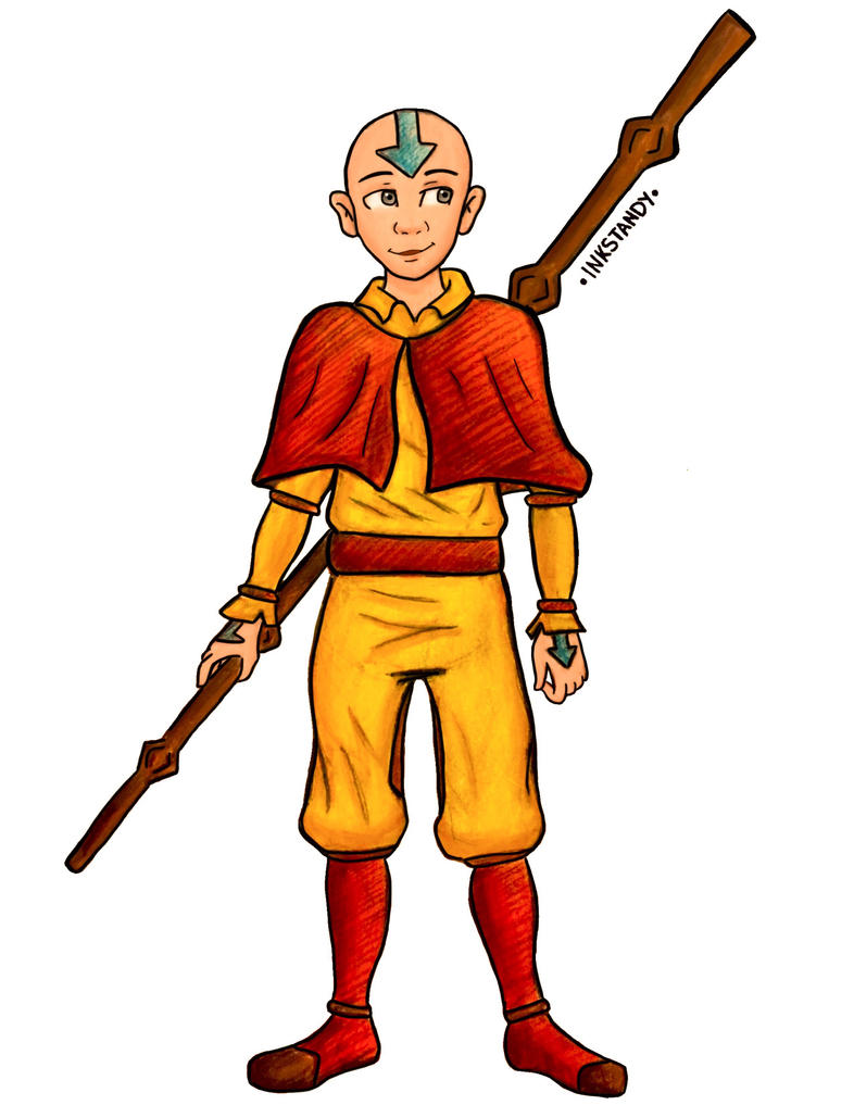 Aang by Inkstandy