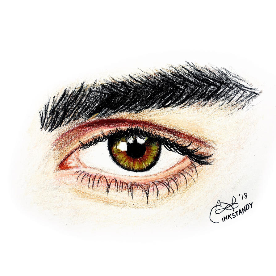 Sexy Eye drawing  by Inkstandy