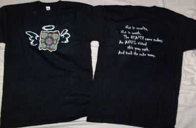 Companion Cube T-shirt Reality by death-au