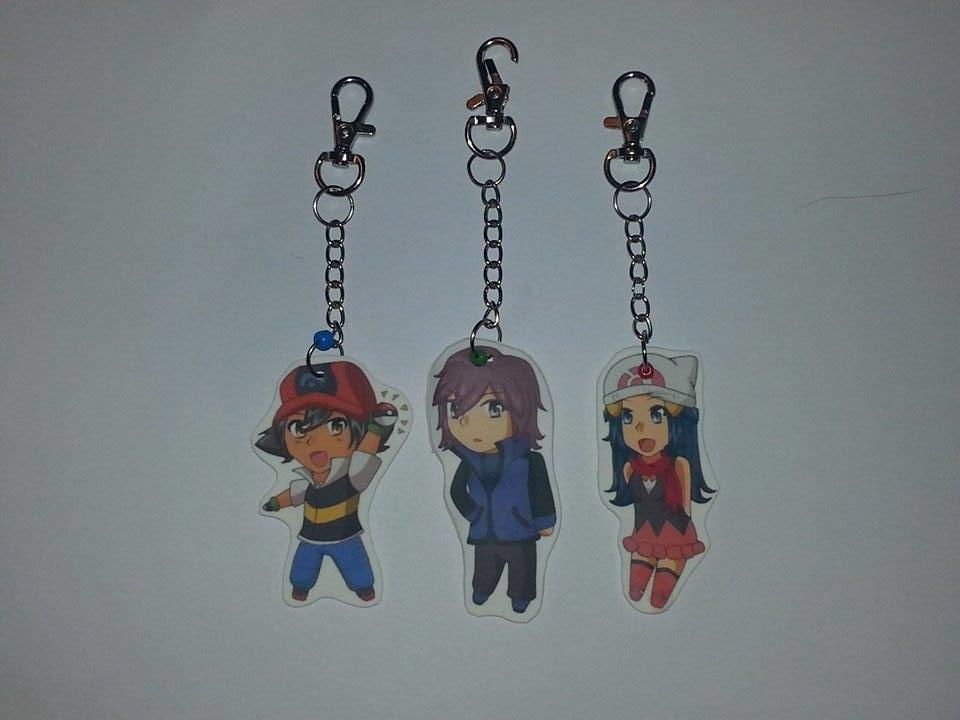 DP Pokeani keychains by Little-MissMidnight