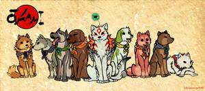 Amaterasu and the Satomi dogs