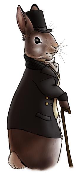 Classy bunny by Scarfowl
