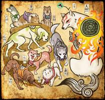 .::Amaterasu and the Satomi Warriors::. - REMAKE by Scarfowl