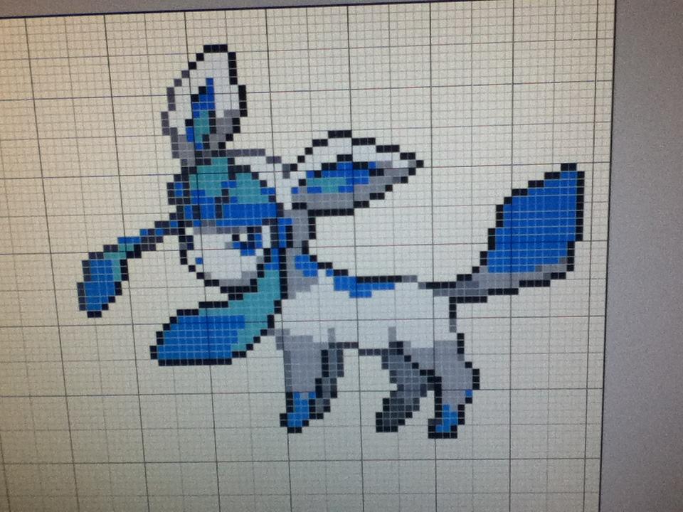 Glaceon Pixel Art By OzeraPrince ...