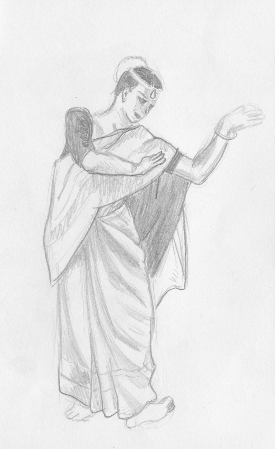 Indian Dancer sketch by Kiyokomachiko