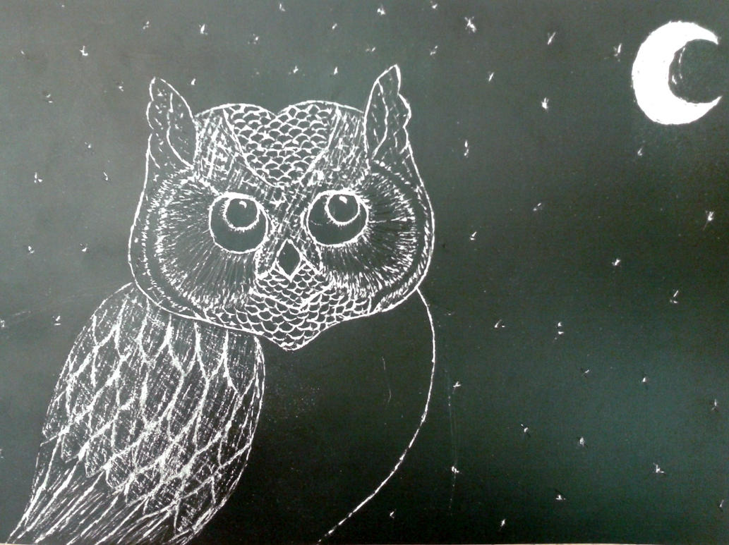 Owl Scratch Art By Owlsomeart