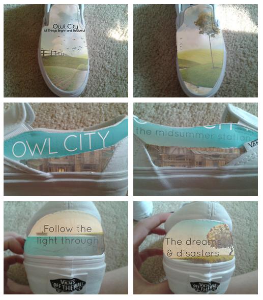 Owl City New Albums Shoe Design by owlsomeart on DeviantArt
