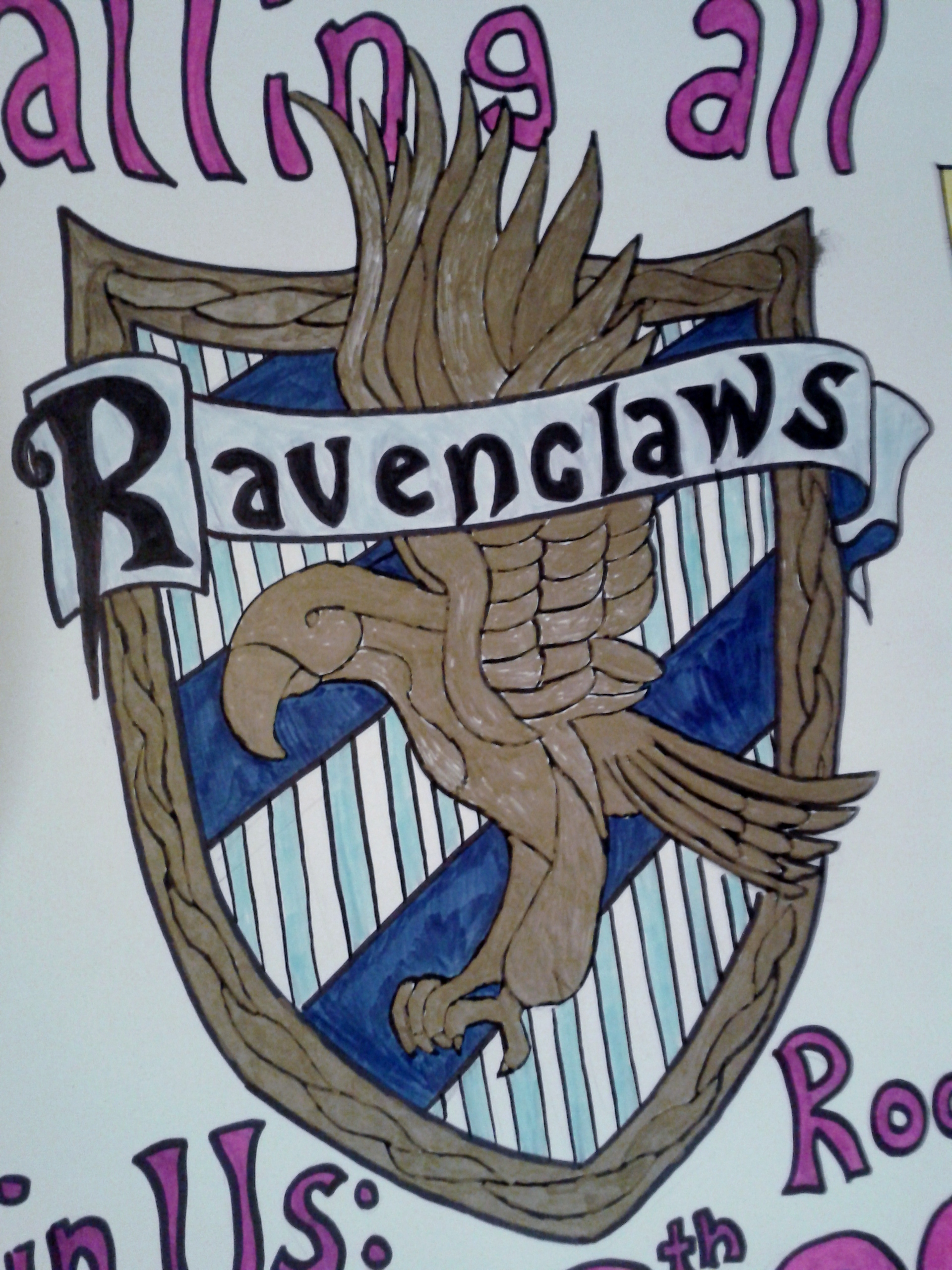 Ravenclaw House Crest by owlsomeartRavenclaw House Crest