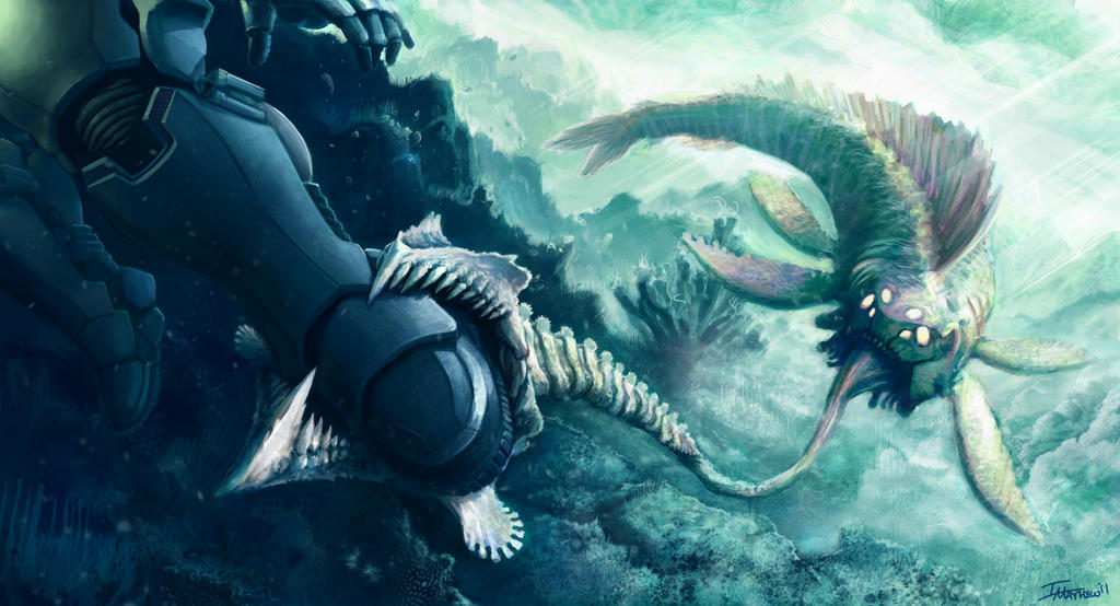 Grappler Shark Attack by Seaurchinstosun